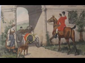 """""""Auto, Pferde, Oldtimer, Hund"""" 1901, Munk Vienne ♥ (24550)"""