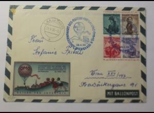 Österreich Ganzsache 15. Ballonpost Wien 1956 ZF Reklame Ono ♥ (46674)