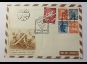 Österreich Ganzsache 12.Ballonpost Wien 1954 Rottemann ♥(59071)