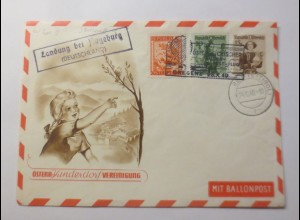 Österreich 3. Kinderdorf Ballonpost Fugsburg GA 1949 ♥ (30546)