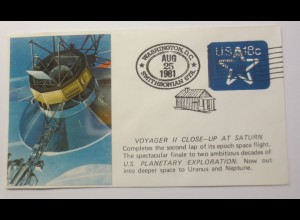 Weltraum USA Cape Canaveral Voyager 2 Close-up at Saturn 1981♥ (22256)