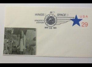 Weltraum USA Space Shuttle Spacepex Station 1991 ♥ (11857)