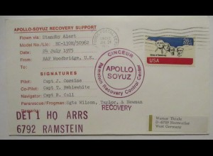 Raumfahrt USA NASA Apollo Soyuz Recovery Support 1975 Ramstein (44836)