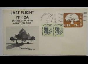 Raumfahrt USA NASA Last Flight YF-12 A Mojave 1979 (37623)