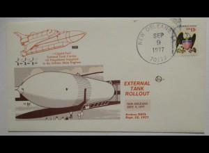 Raumfahrt USA NASA Space Shuttle External Tank Rollout 1977 (6308)