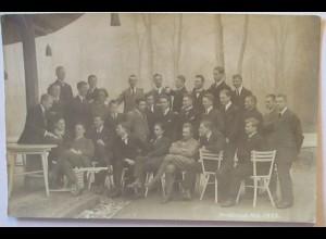Junge Männer, Feier 1923, Fotokarte (9580)