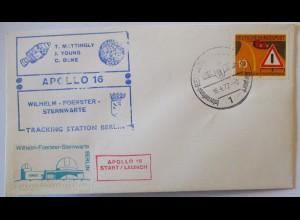 Weltraum NASA Apollo 16 Sternwarte Berlin Tracking Station 1972 (70965)