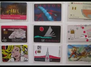 Fahrrad Telekom Tour de Ländle 94, 9 Telefonkarten im Folder (6401)