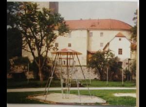 Freistadt Spielplatz mit Kletterpilz, original Foto 1981 (29844)