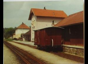 Litschau, Bahnhof, original Foto 1978 (51924)
