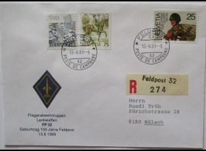 Schweiz Feldpost 1989 Fliegerabwehr Lenkwaffen FP 32 (57447)