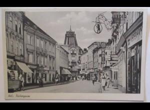 Wels Bäckergasse, Sonderstempel Volksfest 1950 (44555)