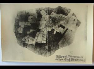 Schlesien Wohlau Rittergut Föhrenwalde Graf Schulenburg Luftbild ca. 1917 (7551)