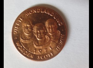 Medaille 1971 Deutschland Apollo 15 - Raumfahrt - Scott - Worden - Irwin ♥(6745)