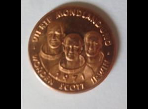 Medaille 1971 Deutschland Apollo 15 - Raumfahrt - Scott - Worden - Irwin♥(28712)