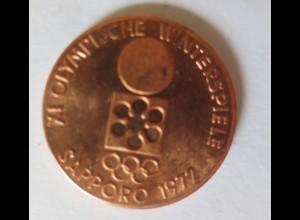 Medaille Kupfer XI. Olympische Sapporo Tokyo Winterspiele 1972 ♥ (43855)