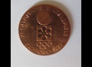 Medaille Kupfer XI. Olympische Sapporo Tokyo Winterspiele 1972 ♥ (22792)