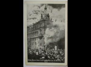 Österreich Wien Unruhen 1927, Brand des Justizpalast (23946)