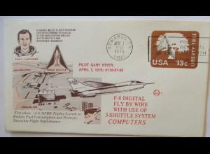 Raumfahrt USA NASA Space Shuttle Pilot Gary Krier F 8 Digital Flight (44514)