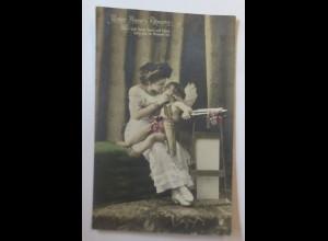 Engel, Amor, Frauen, Mode, unter Amors Führung 1910 ♥ (31794)