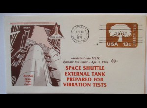 Raumfahrt USA NASA Space Shuttle External Tank Vibration Test 1978 (70567)