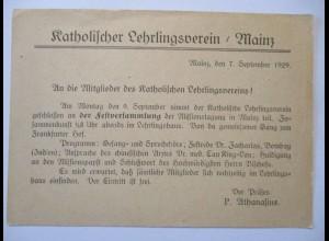 Religion, Mainz, Katholischer Lehrlingsverein 1929