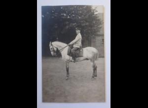 WW1 Offizier zu Pferd Fotokarte 1915 ♥ (44677)