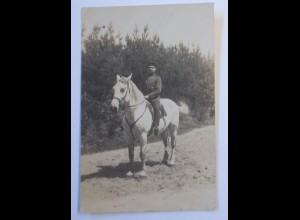 WW1 Offizier zu Pferd Fotokarte 1915 ♥ (44673)