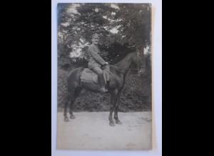 WW1 Offizier zu Pferd, Offiziere, Fotokarte 1915 ♥ (44675)