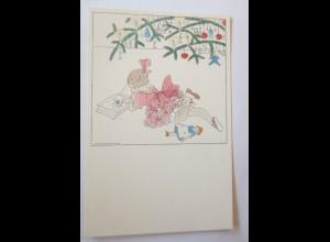 Künstlerkarte, Weihnachten, Kinder, Spielzeug 1917, Mela Köhler ♥ (26628)