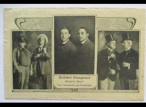 Zirkus Comedy Brüder Dongracz Verwandlungskünstler Autograph Wien 1915 (51948)