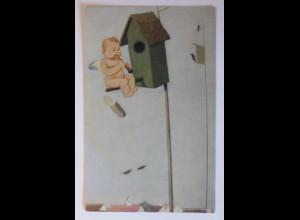 Engel, Amor, Flöte, Vorfrühling, 1918, Jos. Mauder ♥ (36277)