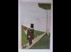 Engel, Amor, Pfeil, Der Wittiber, 1918, Jos. Mauder ♥ (60609)