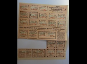 Lebensmittelkarten, Lebensmittelmarken, Mehl, Brot, 1921 ♥ (X34)