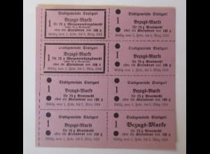 Lebensmittelkarten, Lebensmittelmarken, Mehl, Brot, 1916 ♥ (X40)