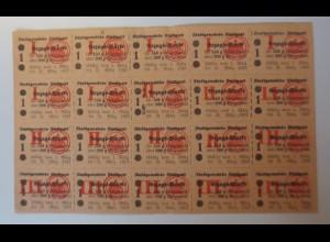 Lebensmittelkarten, Lebensmittelmarken, Stuttgart, Brot, Mehl, 1919 ♥ (X43)