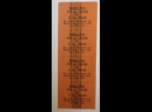 Lebensmittelkarten, Stadt Kempten Fleisch, Wurst, Mai, April, 1920 ♥ (X102)