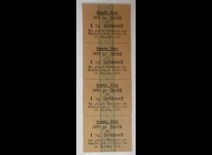 Lebensmittelkarten, Stadt Kempten Fleisch, Frischwurst, Oktober- Nov.1919♥(X120)