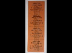 Lebensmittelkarten, Stadt Kempten Fleisch, Wurst, Mai-April 1916 ♥ (X125)