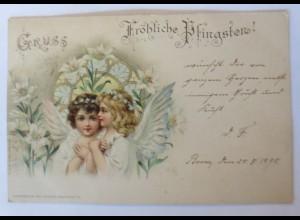 Pfingsten, Engel, Lilien, 1898, Emil Dotzert ♥ (69136)