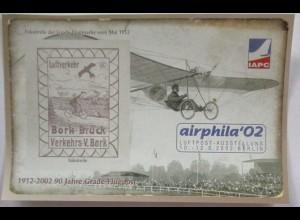 Philatelie Ausstellung Airphila 2002 in Berlin Vignettenblock (14409)
