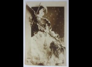 Neujahr, Uhr, Altes und Neues Jahr, Die Zeit flieht, 1910 ♥ (50034)