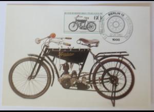Maximumkarte, Historische Motorräder Wanderer 1983 Berlin ♥ (52221)