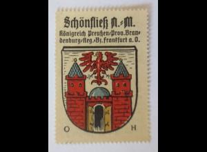 Reklamemarke-Kaffee Hag, Wappen aus Schönfließ Königreich Preußen 1910 ♥ (72167)