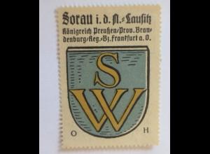 Reklamemarke-Kaffee Hag, Wappen Sorau (Lausitz) Königreich Preußen 1910 (37240)
