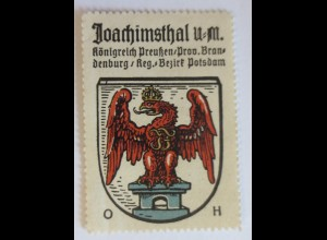Reklamemarke, Wappen aus Joachimsthal Königreich-Preußen ♥ (23894)