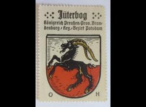 Reklamemarke, Wappen aus Jüterborg Königreich-Preußen ♥ (50556)