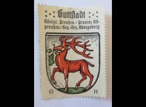 Reklamemarke, Wappen aus Guttstadt Königreich-Preußen ♥ (28672)