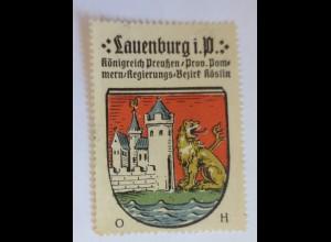 Reklamemarke, Wappen aus Lauenburg Königreich-Preußen ♥ (62894)