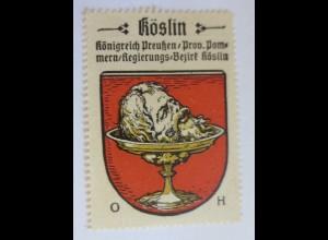 Reklamemarke, Wappen von Köslin Königreich-Preußen ♥ (8492)